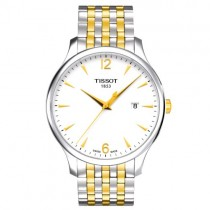 """Vyriškas '""""TISSOT"""" laikrodis su baltu ciferblatu"""