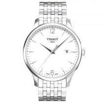 """Vyriškas '""""TISSOT"""" laikrodis su sidabro spalvos nerūdijančio plieno dirželiu"""