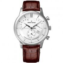 """Vyriškas """"CLAUDE BERNARD"""" laikrodis su rudu odiniu dirželiu"""