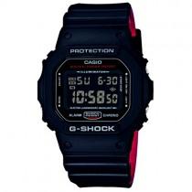 """Vyriškas elektroninis """"CASIO G-SHOCK"""" laikrodis su juodu plastikiniu dirželiu"""