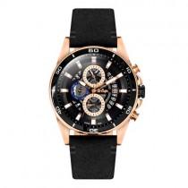 """Vyriškas """"LEE COOPER"""" laikrodis su juodu odiniu dirželiu"""