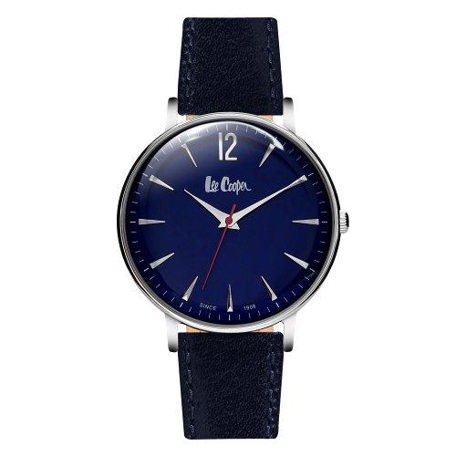"""Vyriškas """"LEE COOPER"""" laikrodis su tamsiai mėlynu odiniu dirželiu"""