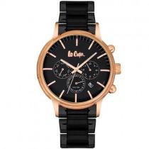 """Vyriškas """"LEE COOPER"""" laikrodis su juodos spalvos nerūdijančio plieno dirželiu"""