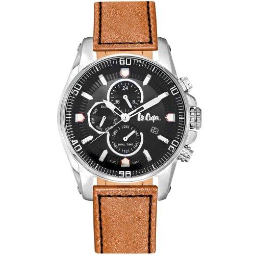 """Vyriškas """"LEE COOPER"""" laikrodis su šviesiai rudu odiniu dirželiu"""
