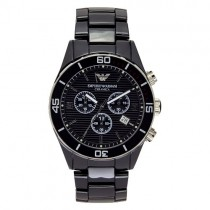 """Vyriškas """"EMPORIO ARMANI"""" laikrodis su juodu ciferblatu"""