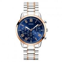 """Sidabro spalvos """"GUESS"""" vyriškas laikrodis su mėlynu ciferblatu"""
