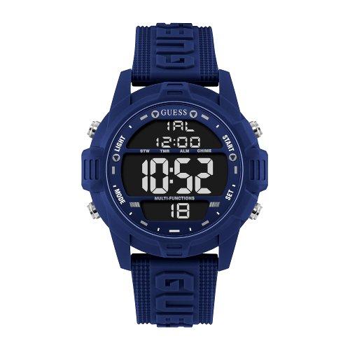 """Mėlynos spalvos """"GUESS"""" vyriškas laisvalaikio stiliaus laikrodis"""