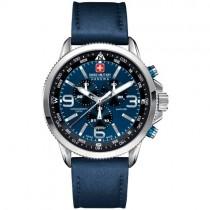 """Mėlynas """"SWISS MILITARY"""" vyriškas laikrodis"""