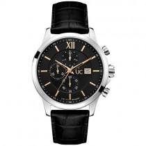 """Vyriškas laikrodis """"GC"""" su juodu ciferblatu"""