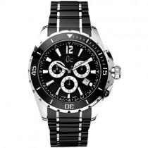 """Vyriškas """"GC"""" laikrodis su juoda keramikine apyranke"""