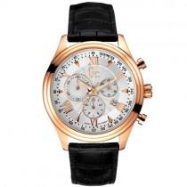 """Klasikinis vyriškas laikrodis """"GC"""" su juodu odiniu dirželiu"""