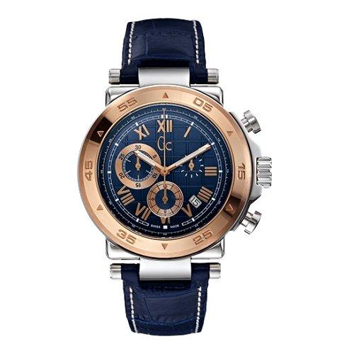 """Laikrodis vyrams """"GC"""" su mėlynu odiniu dirželiu"""