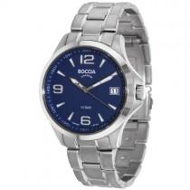 """Laikrodis vyrams """"BOCCIA TITANIUM"""" su tamsiai mėlynu ciferblatu"""