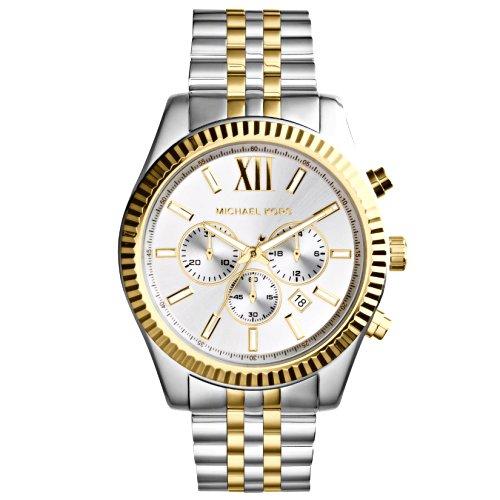 """Vyriškas laikrodis """"MICHAEL KORS"""" su sidabro bei aukso spalvos apyranke"""