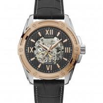 """Vyriškas """"GUESS"""" laikrodis su juodu odiniu dirželiu"""