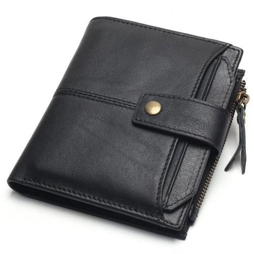 Stilinga juodos spalvos piniginė vyrui su išimamu kortelių skyriumi