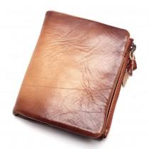 Nedidelė šviesiai rudos spalvos vyriška piniginė iš odos