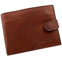 """Ruda vyriška piniginė """"Wrangler"""" iš odos su RFID apsaugos dėklu"""