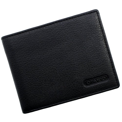 """Juodos spalvos vyriška piniginė iš odos """"OTARIO"""""""