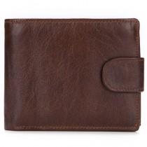 Stilinga rudos spalvos vyriška odinė piniginė