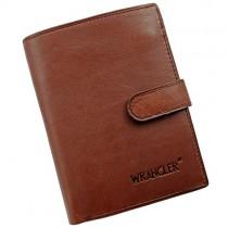 """Ruda odinė vyriška piniginė """"Wrangler"""" su RFID dėklu"""