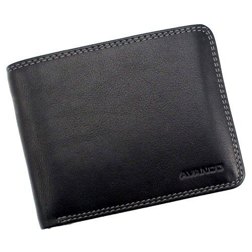 """Juodos spalvos neužsegama vyriška piniginė """"AVANCO"""""""