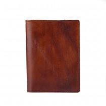 Rankų darbo rudos odos dėklas dokumentams ir pinigams
