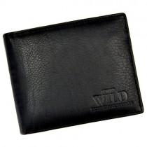 """Vyriška juoda odinė """"WILD"""" piniginė"""