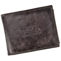 """Vyriška ruda odinė """"WILD"""" piniginė"""