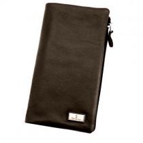 Vyriška odinė rudos spalvos piniginė su užsegimu