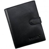 """Vyriška juoda """"Wrangler"""" odinė piniginė su RFID dėklu"""