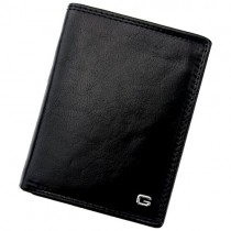 """Juoda odinė """"GREGORIO"""" vyriška piniginė su RFID dėklu"""