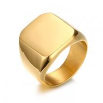 Vyriškas auksinės spalvos nerūdijančio plieno žiedas