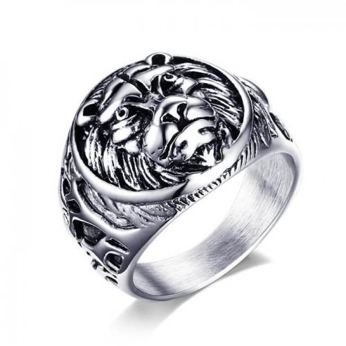Vyriškas sidabrinės spalvos nerūdijančio jūvelyrinio plieno žiedas