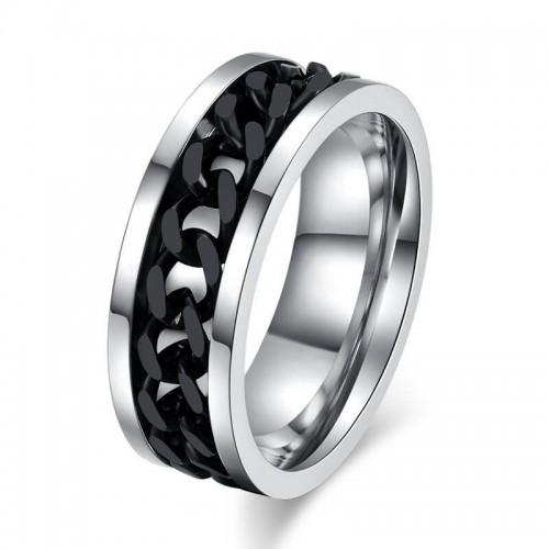 Vyriškas nerūdijančio plieno žiedas su suktuko funkcija