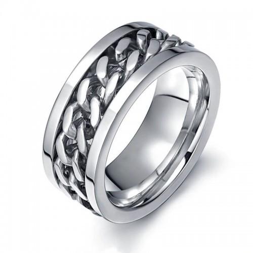 Vyriškas nerūdijančio juvelyrinio plieno žiedas su suktuko funkcija