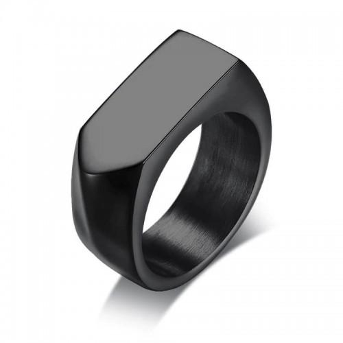 Vyriškas juodas nerūdijančio juvelyrinio plieno žiedas