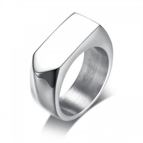Vyriškas sidabrinės spalvos nerūdijančio plieno žiedas