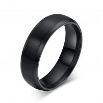 Vyriškas juodos spalvos nerūdijančio plieno žiedas