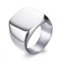 Prabangus vyriškas sidabrinės spalvos nerūdijančio plieno žiedas