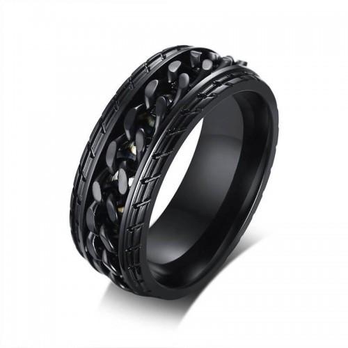 Stilingas juodas vyriškas žiedas