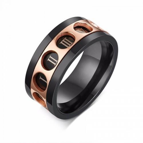 Besisukantis žiedas vyrams su romėniškais skaičiais