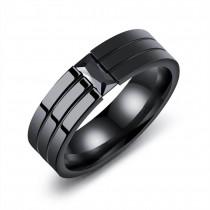 Blizgus žiedas vyrui su akmenuku