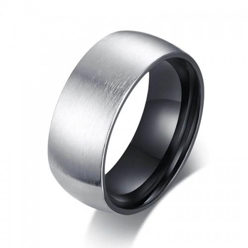 Paprasto dizaino sidabro spalvos vyriškas žiedas