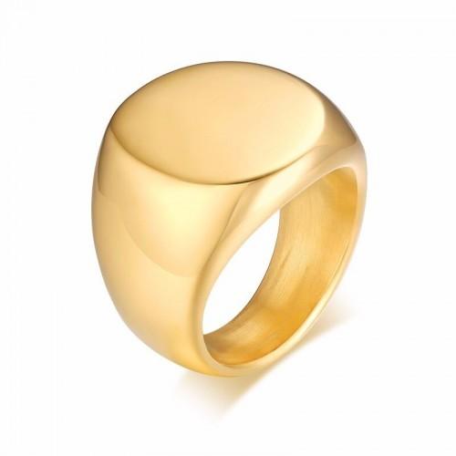 Platus aukso spalvos vyriškas žiedas
