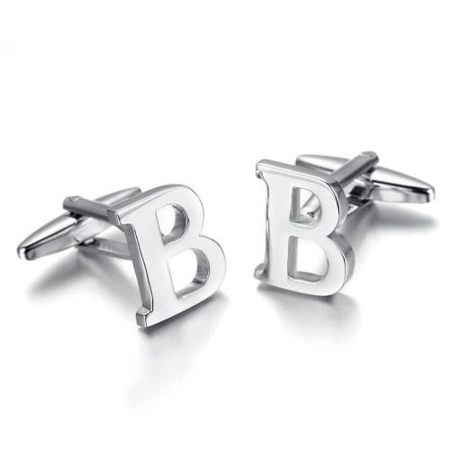 """""""B"""" raidės formos plieninės vyriškos sąsagos"""