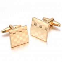 """Aukso spalvos sąsagos vyrams """"šachmatų lenta"""""""