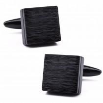 Stilingos juodos kvadratinės sąsagos vyrams iš vario
