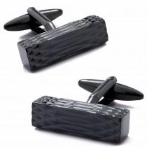 Stilingos vyriškos varinės stačiakampio formos sąsagos