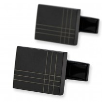 Stilingos juodos spalvos vyriškos sąsagos iš vario